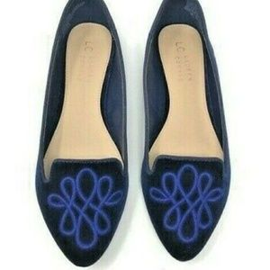 "Lauren Conrod Navy Blue ""Callanavy"" Flats 7 medium"